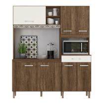 Cozinha Compacta Yara 7 Portas 1 Gaveta Évora R. / Évora R. / Off White C. Nicioli -
