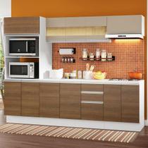 Cozinha Completa 100% MDF Madesa Smart 250 cm Modulada Com Balcão e Tampo -