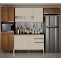 Cozinha Completa 4 Peças com Tampo Turmalina CHF Carvalho/Off White -