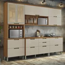 Cozinha Completa 5 Peças Duquesa Nesher Móveis Freijó/Off-White -