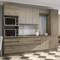 Cozinha Completa Balcão com Tampo 6 Peças Kappesberg Nogal -