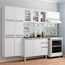Cozinha Completa Colormaq Roma Branco com 4 Peças com 3 Portas de Vidro -
