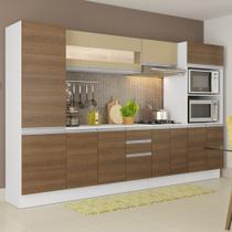 Cozinha Completa Compacta Madesa Smart Modulada Com Armário, Balcão e Tampo -