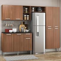 Cozinha Completa Compacta Pequim UP Multimóveis com Balcão - Madeirado -