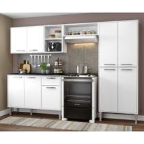 Cozinha Completa Compacta Xangai Plus Multimóveis Branco -