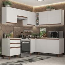 Cozinha Completa de Canto Madesa Reims 392001 com Armário e Balcão - Branco -