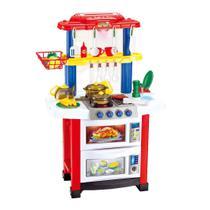 Cozinha Completa Infantil Som Luz Diversos Acessórios 83cm - BarrettoMegaStore