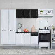 Cozinha Completa Itatiaia Amanda Branco e Preto - 4 peças -