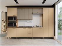 Cozinha Completa Kappesberg CB536-FRCH com Balcão - Nicho para Micro-ondas 15 Portas 3 Gavetas