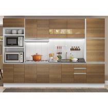 Cozinha Completa Madesa Olimpia 3 Gavetas 14 Portas (Sem Tampo e Pia) -