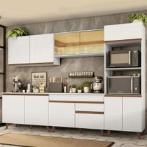 Cozinha Completa Madesa Reims 310001 com Armário e Balcão - Branco -