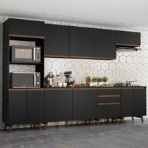 Cozinha Completa Madesa Reims 320002 com Armário e Balcão - Preto -