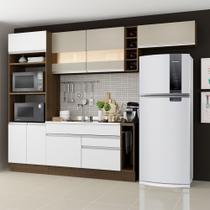 Cozinha Completa Madesa Safira com Armário e Balcão (Sem Tampo e Pia) -