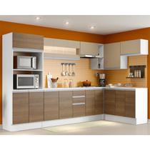 Cozinha Completa Madesa Smart com Balcão - Nicho para Forno 17 Portas 2 Gavetas MDF -