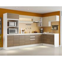 Cozinha Completa Madesa Smart com Balcão - Nicho para Forno 17 Portas 2 Gavetas -