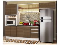 Cozinha Completa Madesa Smart Plus GRGM270002 - com Balcão Nicho para Micro-ondas 10 Portas