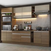 Cozinha Completa Madesa Vicenza com Armário e Balcão (Sem Tampo e Pia) -