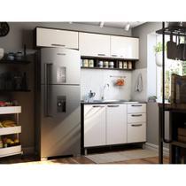 Cozinha Completa Modulada 3 Peças, Armários Aéreos e Balcão para Pia 120cm Sara Luciane Móveis - Kit
