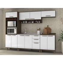 Cozinha Completa Modulada 5 Peças com Paneleiro Torre, Armários e Balcões Sara Luciane Móveis - Kit