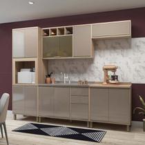 Cozinha Completa Modulada 5 Peças com Torre Microondas Armário e Balcão Yara Luciane Móveis - Kit