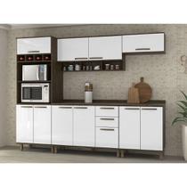 Cozinha Completa Modulada 6 Peças com Paneleiro Torre, Armários e Balcões Sara Luciane Móveis - Kit