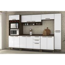 Cozinha Completa Modulada 7 Peças com Paneleiro Torre, Armários e Balcões Sara Luciane Móveis - Kit