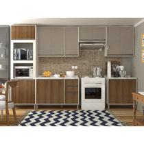 Cozinha Completa Modulada 7 Peças com Torre Quente, Armários e Balcões Linea Luciane Móveis - Kit
