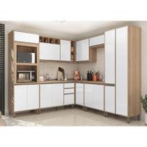 Cozinha Completa Modulada 8 Peças com Armário e Balcão Yara Luciane Móveis - Kit