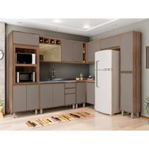 Cozinha Completa Modulada 9 Peças com Armário e Balcão Yara Luciane Móveis - Kit