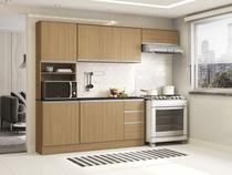 Cozinha Completa Poliman Paris com Balcão - e Nicho para Micro-ondas 9 Portas 2 Gavetas