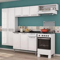 Cozinha Completa Rose Com Balcão Itatiaia Móveis Branco Neve -