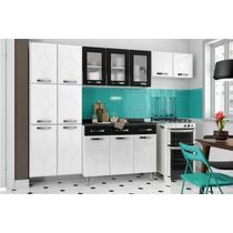 Cozinha Completa Telasul Rubi de Aço 4 Peças Branco/Preto -