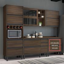 Cozinha Completa Thela Canela 4 Peças Nogueira -