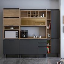 Cozinha Completa Thela Hibisco 4 Peças Paneleiro com USB Aveiro/Grafite -