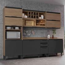 Cozinha Completa Thela Hibisco 5 Peças Aveiro/Grafite -