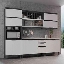 Cozinha Completa Thela Hibisco 5 Peças Grafite/Branco -