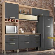 Cozinha Condessa 1 Cedro/Grafite - Nesher -