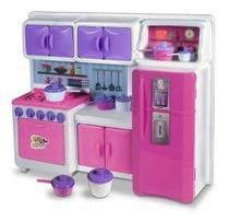 Cozinha Cristal Rosa Infantil Geladeira Fogao Completa 45cm - Lua De Cristal