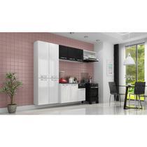 Cozinha de Aço Amanda 2,45X1,65M Branco/Preto Itatiaia -