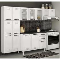 Cozinha de Aço Compacta Telasul Pérola Com Vidro Branco -