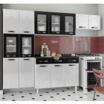 Cozinha de Aço Compacta Telasul Rubi 3 Peças Branco/Preto -