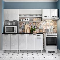Cozinha de Aço Compacta Telasul Rubi c/ portas de correr 3 Peças Branco -