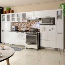 Cozinha de Aço Completa com 2 Paneleiros, 2 Balcões e 3 Armários Aéreos Multipla Bertolini Branco -