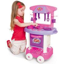 Cozinha de brinquedo infantil play time rosa - cotiplas -