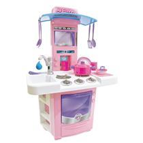 Cozinha de Brinquedo Sai Agua Big Star Menina + Panelas -