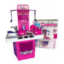 Cozinha De Brinquedo Sai Aguá Fogãozinho E Panelinhas Top - Big Star