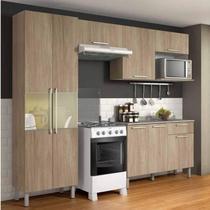 Cozinha e Fogão 4 Bocas Duda St Itatiaia Aveiro Oak -