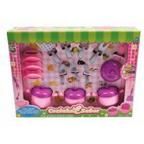Cozinha e Sabor Roxo e Rosa Panela Prato - Bs Toys RV-448.1 -