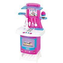 cozinha Fogão Infantil Menina Cupcake com Som e Luzes  Panela acessórios - Magic Toys