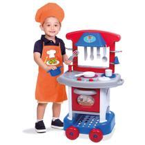 Cozinha Infantil Azul Play Time Brinquedo Meninos Cotiplás -